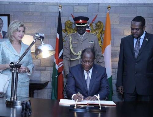 6ème Conférence Internationale sur le Développement de l´Afrique: Arrivée du Président Alassane Ouattara à Nairobi